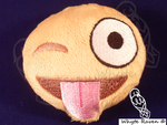 Emoji Winky Tongue Out Plushie by Whyte-Raven