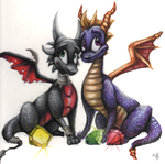 Sketchbook.01 - Classic Spyro and Cynder by Bluepisces97
