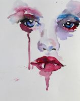 water colour face by charliebissett