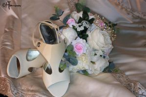 Bouquet and shoes by elliemoo