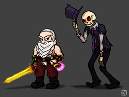 Old man and Deadbones by Radioactive-K