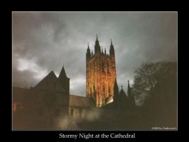 Stormy Night at the Cathedral by DarkRaven1
