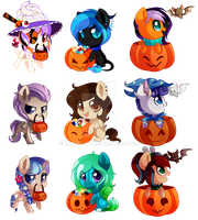 Halloween YCH commissions by hikariviny