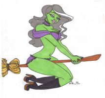 Quick doodle - sexy witch by aita92