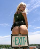 Exit Only by Fathergatto