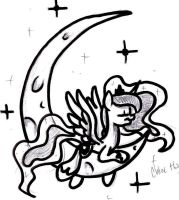 Commission: Luna Tattoo Design #2 by frostykat13