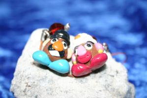 Mr. and Mrs. Potato Head Charms Phone Straps by LoekazCharms