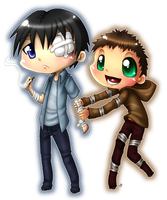 Steven and Hyman chibi by roseannepage
