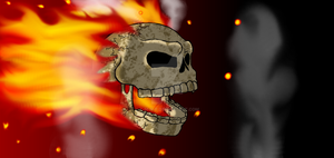Flaming Skull by T-M-N-T