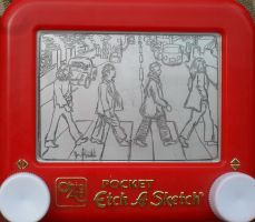 Abbey Road Etch a Sketch by pikajane