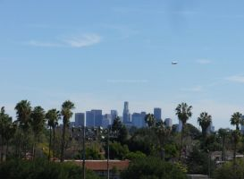 A Blimp Covering the L.A. Marathon by ShipperTrish