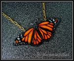 Shrinkfoil Lifesize Butterfly-Necklace by HochmutBelial