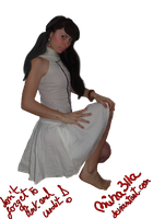 model in white skirt precut by Miha3lla