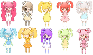 ice-cream adoptables -  OPEN by amai--hime