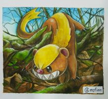 Yungoos the little devil. Pokemon sun and moon