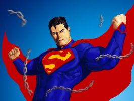 Superman Unchained by brianlaborada