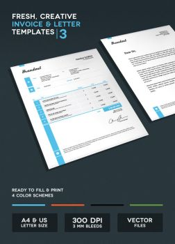 Invoice and Letter Templates III by onlycreativeworks