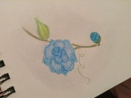 Blue rose by Leanneisme