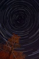 Startrail with ISS by Chris350D
