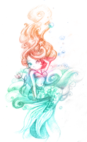 A little mermaid by banana-fox