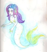 rainbow mermaid by AlexisM96