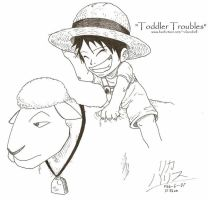 "Luffy ""Toddler Troubles"" by KaizokuShojo"
