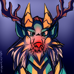 Rudolph The Red Nosed Jinouga by nightclaw534