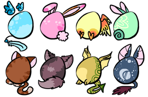 Hatchable adopts .:CLOSED:. by SorbetAdopts