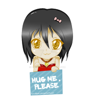 Chibi Girl-HUG ME, PLEASE by NyusLium