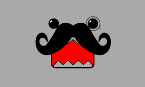 Wallpaper Domo Moustache by CooniiSweet