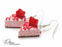Cake with flower by OrionaJewelry