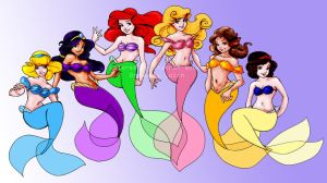 Disney Princesses by Loish by Flirtayangel