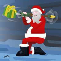 The War on Christmas - Santa by protoPrimus
