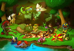 Winding Woods picknick by Retromissile