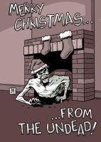 Merry Zombie Christmas by ScottEwen