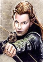 Evangeline Lilly miniature by whu-wei