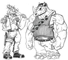 Bebop and Rocksteady by RyanGiovinco