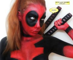 Deadpool cosplay makeup by marymakeup