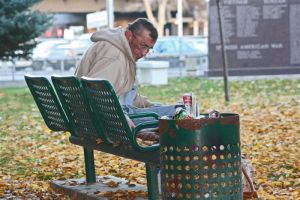 man on bench by neaters2000