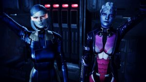 EDI and Liara T'Soni by johntesh