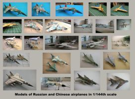 Collaged models Russia China by Rekalnus