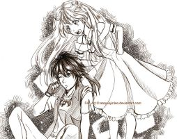 Orphen and Cleo by Sayaka-ssi