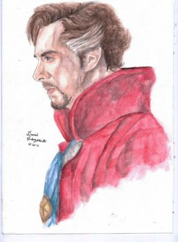 Benedict Cumberbatch - Doctor Strange Watercolor by davidsobo