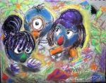 Zoombinis_dry pastel practice by IZZY-CHAN13