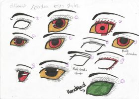 different aradia eye styles colour by kimmyragefire