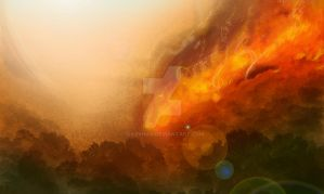 Forest fire by riazkhan