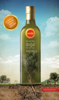 Verde Olive Oil Advertising by grafiket