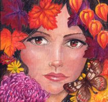 Four Seasons Series Autumn by Phoenixartstudio