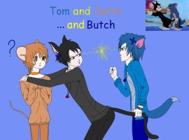 Tom and Jerry ... and Butch by Fallsoffthesky