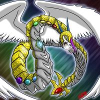 Crystal White Dragon by Shadzerios